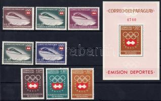 Téli olimpia sor + blokk, Winter Olympics set + block