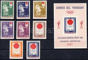 Tokyo Olympics set + block, Tokiói olimpia sor + blokk