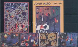 2003 Joan Miró festmények sor + kisív Mi 4137-4144 + blokksor Mi 539-540