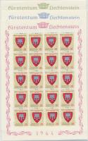 Címerek (I) kisív sor Coat of arms (I) mini sheet set
