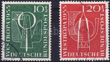 1955 Nemzetközi Bélyegkiállítás sor Mi 217-218