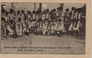 1919 Pascani, Great National Cultural Celebration, Some of the villagers, probably cut out from booklet (non PC)