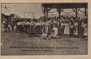 1919 Pascani, Great National Cultural Celebration, National Games competitions, probably cut out from booklet (non PC)