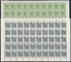 1938 Hivatalos Mi 28-36 50-es teljes hajtott ívekben / Official Mi 28-36 comlete folded sheets of 50