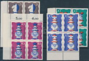 1972 Jólétért: Sakkfigurák sor négyestömbökben Mi 742-745
