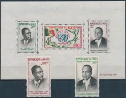 1961 Politikusok légiposta értékek Mi 23-24 + blokk 1