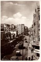 Beirut, Rue Weygand / street, automobiles, trams