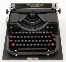 Mercedes Selecta írógép, jó állapotban, eredeti tokjában, 32×38 cm