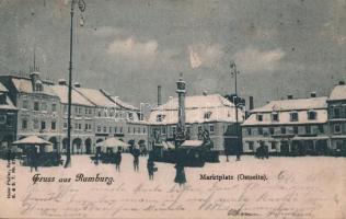 1899 Rumburk, Rumburg; Marktplatz / market place