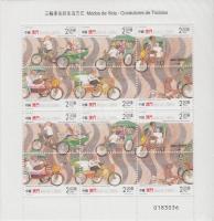 2000 Kerékpáros riksák teljes ív Mi 1092-1097