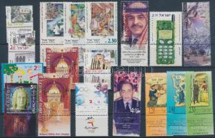 17 diff. stamps with tab with full sets, 17 klf tabos bélyeg teljes sorokkal