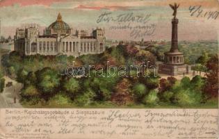 Berlin, Reichstagsgebäude und Siegessäule