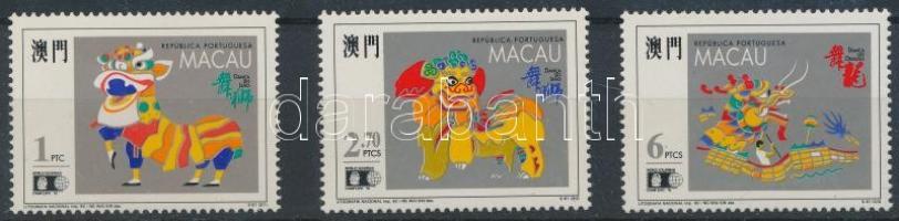 1992 Chicagói bélyegkiállítás sor Mi 699-701