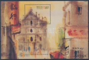 1997 Makaói tájakat ábrázoló festmények blokk Mi 43