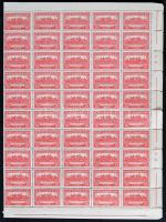 1926 Pengő-fillér (I.) 100 sor hajtott teljes ívekben, szép minőség (néhány helyen elvált fogak) (2.500.000) / Mi 411-426 100 sets in complete sheets (some aparted perfs.)