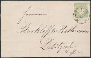 1874 Mi 23a levélen / on cover