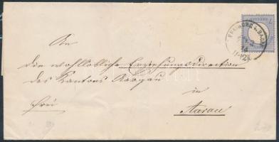 1874 Mi 10 levélen Svájcba / on cover to Switzerland FREIBURG I. BADEN