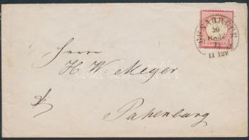 1872 Mi 4 levélen / on cover OSNABRÜCK