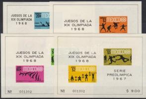 1967 Nyári olimpia, Mexikó blokksor Mi 7-10