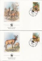 1991 WWF: Antilopok sor 4 db FDC-n Mi 1231-1234