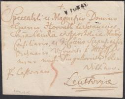 1794 Portós levél / cover with postage due V TOKAY - Leutsovia