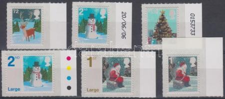 2006 Karácsony öntapadós ívszéli sor (1 bélyeg ívsarki) Mi 2463 I C - 2468 I C