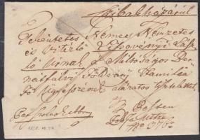 1838 Franco negatív / negative SZOLNOK - Pest