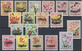 1960 Forgalmi: Virágok sor felülnyomással Mi 11-28