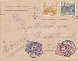 1930 Levél Ausztriából, portózva / Cover from Austria, with postage due