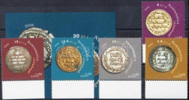 2006 Régi pénzek ívszéli sor Mi 1886-1890 + vágott blokk Mi 116