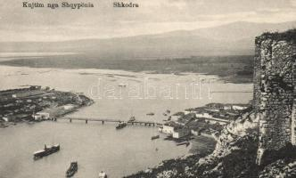 Shkodër, Shkodra; aerial view