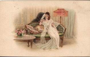 Kissing couple, romantic postcard, Csókolózó pár, romantikus képeslap