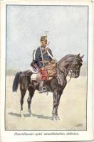 1896 Hungarian hussar in summer clothing s: Garay (wet corner), 'Honvédség története 1868-1918' s: Garay (ázott)