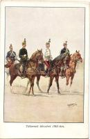 1901 Hungarian general with his military staff s: Garay (wet damage), 'Honvédség története 1868-1918' s: Garay (ázott)