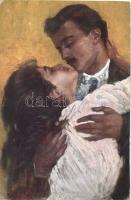 Kissing couple, romantic s: B. Lallella, Csókolózó pár, romantikus s: B. Lallella