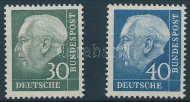 1957 Theodor Heuss sor Mi 259y-260y