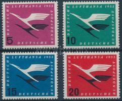1955 Lufthansa légitársaság sor Mi 205-208
