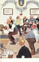 Bowling, pub humour B.K.W.I. 925-5. s: Schönpflug (fl)
