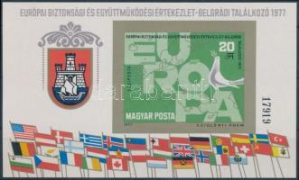 1977 Európai Biztonsági és Együttműködési Konferencia (IV) vágott blokk (5.000)