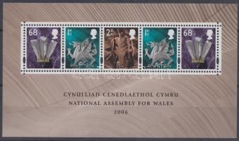 Wales 2006 Walesi nemzetgyűlés blokk Mi 1