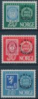 1955 Nemzetközi Bélyegkiállítás sor Mi 393-395