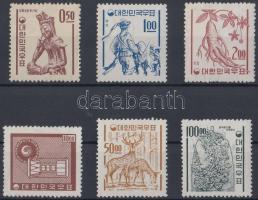 1963 Forgalmi értékek Mi 383-385, 388, 391-392