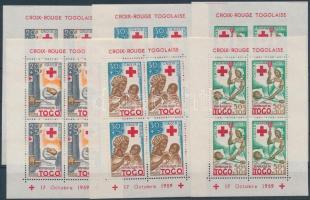 1959 Vöröskereszt fogazott és vágott blokksor Mi 2-4