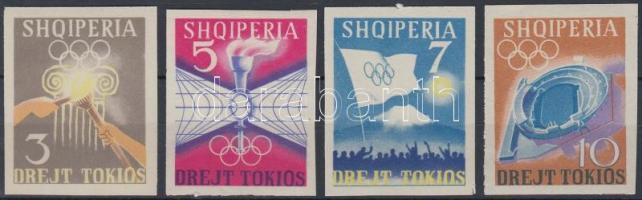 1964 Nyári olimpia vágott sor Mi 828-831