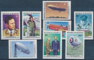 1977 50 éve repülte át Lindbergh az Atlanti-óceánt sor Mi 721-728