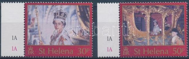 2003 II. Erzsébet királynő koronázásának 50. évfordulója ívszéli sor Mi 869-870