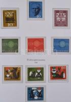 NSZK gyűjtemény az 50-es évek közepétől 1970-ig KABE falcmentes előnyomott albumban, rugós borítóban