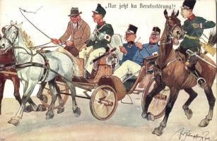 K.u.K. soldiers, carriage, B.K.W.I. 346-7 s: Schönpflug, K.u.K. katonák, lovaskocsi, B.K.W.I. 346-7 s: Schönpflug