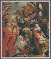 400th birth anniversary of Peter Paul Rubens - Christmas block, 400 éve született Peter Paul Rubens - karácsony blokk
