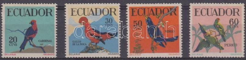 1958 Madarak sor Mi 981-984